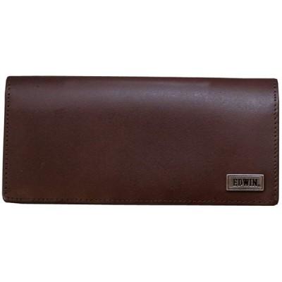 [エドウィン] 2つ折り 長財布 0510442 ボンデットレザー 革 メンズ ウォレット レザー チョコ