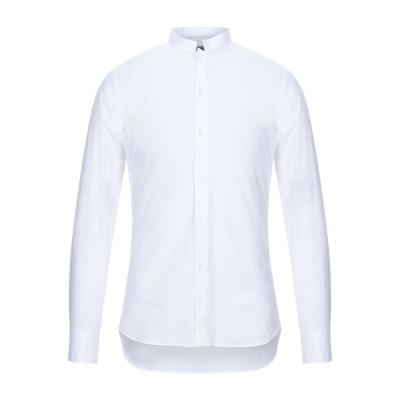 パオロ ペコラ PAOLO PECORA シャツ ホワイト 43 コットン 96% / ポリウレタン 4% シャツ