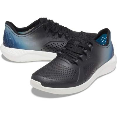 [クロックス公式] 靴 ライトライド カラー ディップ ペーサー ウィメン レディース、ウィメンズ、女性用 ブラック/黒 21cm,22cm,23cm,24cm,25cm Women's LiteRide Color Dip Pacer