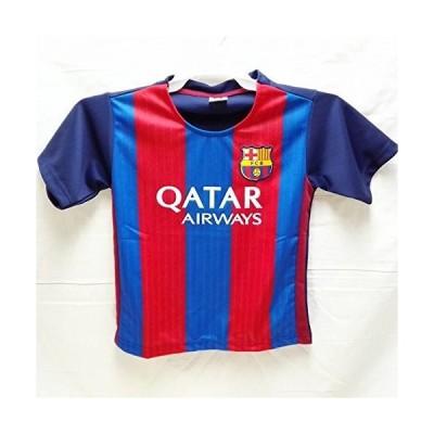 子供用 K003 バルセロナHOME 青赤 17 ゲームシャツ パンツ付 ジュニア ユニフォーム