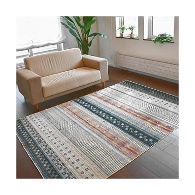 絨毯 ラグ ラグマット ベルギー 薄手 約 4畳 195x300cm カーペット おしゃれ じゅうたん モケット織 ダイニングラ?