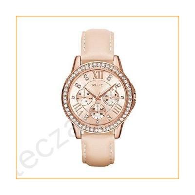 Relic by Fossil Women's Layla Analog-Quartz Watch with Leather Calfskin Strap, Beige, 16 (Model: ZR15907)並行輸入品