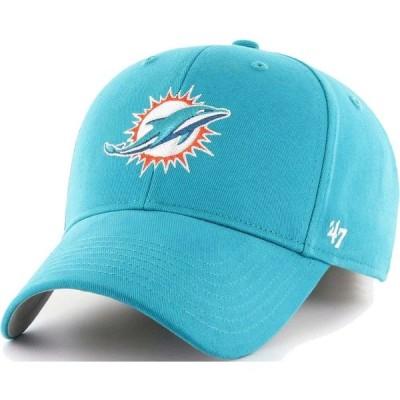 フォーティセブン 47 メンズ キャップ 帽子 ' Miami Dolphins Clean Up Aqua Adjustable Hat