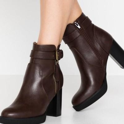 アンナフィールド レディース ブーツ High heeled ankle boots - dark brown