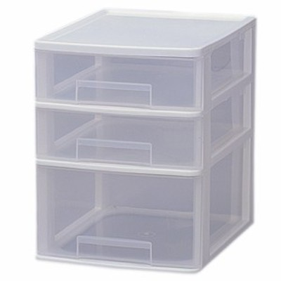 ▼《組立不要》テーブルチェスト ET-421 ホワイト【アイリスオーヤマ】(収納BOX・収納ボックス・収納用品・収納ケース プラスチック・押
