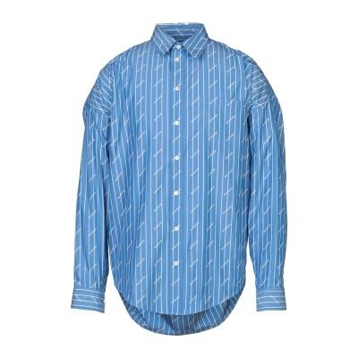 バレンシアガ BALENCIAGA シャツ ブルー 37 コットン 75% / ポリエステル 25% シャツ