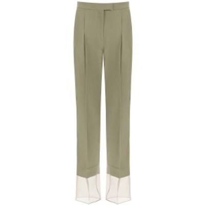 LOW CLASSIC/ロウクラシック Green Low classic organza hem trousers レディース 春夏2021 TR04OL ik