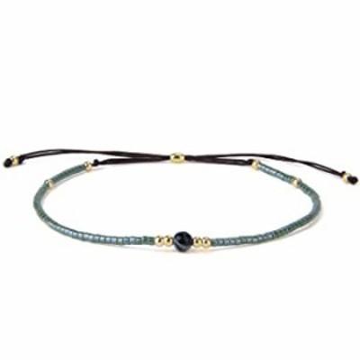 KELITCH Seed Beads Strand Bracelet Handmade Braided Adjustable Charm String Link Bracelets Fashion Jewelry for Women -P