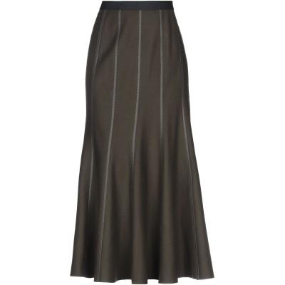 ハイケ HACHE ロングスカート ミリタリーグリーン 42 バージンウール 70% / ナイロン 20% / カシミヤ 10% ロングスカート