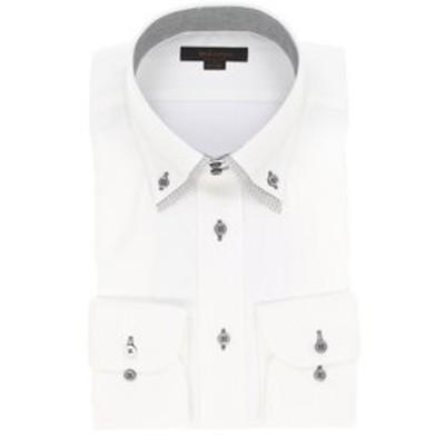 形態安定レギュラーフィット ドゥエ2枚衿長袖シャツ