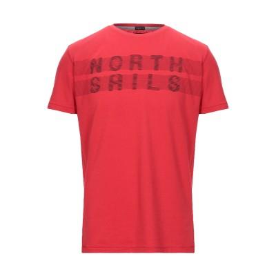 ノースセール NORTH SAILS T シャツ レッド L コットン 50% / ポリエステル 50% T シャツ