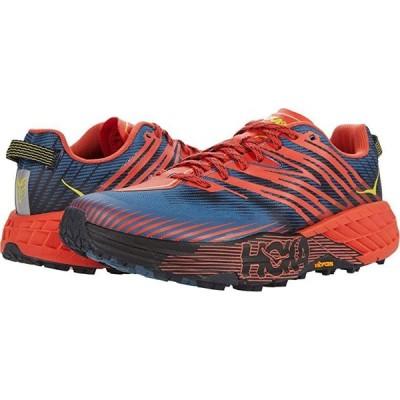 Hoka One One Speedgoat 4 メンズ スニーカー 靴 シューズ Fiesta/Provincial Blue