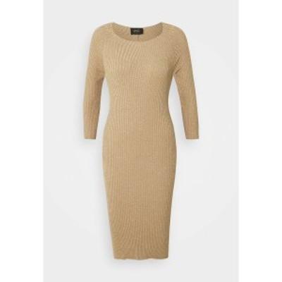リュージョー レディース ワンピース トップス ABITO MAGLIA - Shift dress - gold lux gold lux