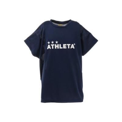 アスレタ(ATHLETA) サッカー ウェア 半袖 ジュニア Tシャツ プラクティスシャツ 2344J NVY フットサルウェア (キッズ)