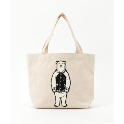 トートバッグ バッグ 【POLAR BEAR BENJAMIN】さがら刺繍キャンバスミニトート
