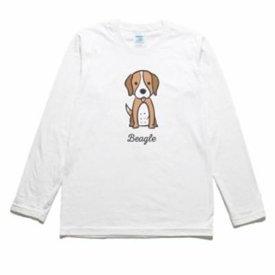 ビーグル 動物 生き物 長袖Tシャツ ロングスリーブ