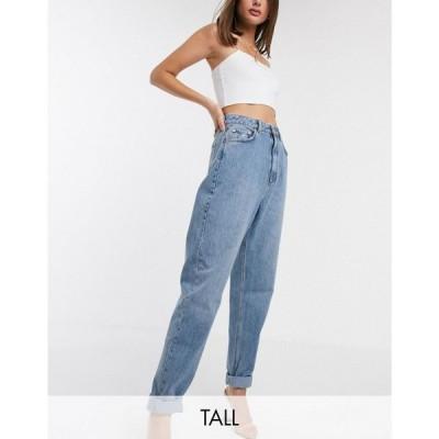 エイソス ASOS Tall レディース ジーンズ・デニム ASOS DESIGN Tall high rise 'Slouchy' mom jeans in midwash ミッド ヴィンテージウォッシュ
