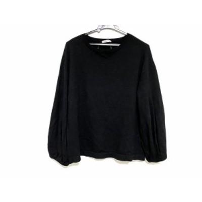 アドーア ADORE 長袖セーター サイズ38 M レディース - 黒 クルーネック【中古】20201219