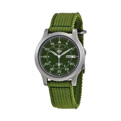 セイコー 5 キャンバス ストラップ オートマチック ステンレス スチール メンズ 腕時計