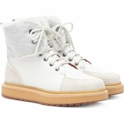 ロロピアーナ Loro Piana レディース ブーツ シューズ・靴 Elmira fur-trimmed sneakers Grey