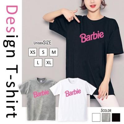 Tシャツ レディース 半袖 トップス ブランド ユニセックス メンズ プリントTシャツ ロゴ ピンク かわいい 人気 おしゃれ