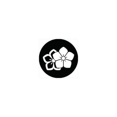 家紋シール 陰陽桔梗紋 直径15cm 丸型 白紋 KS15M-0220W