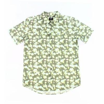 Hurley ハーレー ファッション アウター Hurley NEW Green Mens Size Small S Short Sleeve Button Down Shirt