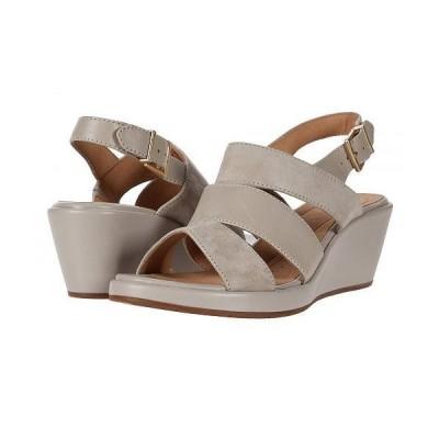 Clarks クラークス レディース 女性用 シューズ 靴 ヒール Un Plaza Go - Stone Suede/Leather Combi