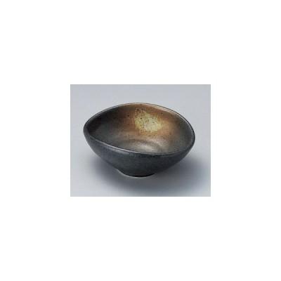 黒備前玉子小鉢/大きさ・14.5×11.8×5.7cm