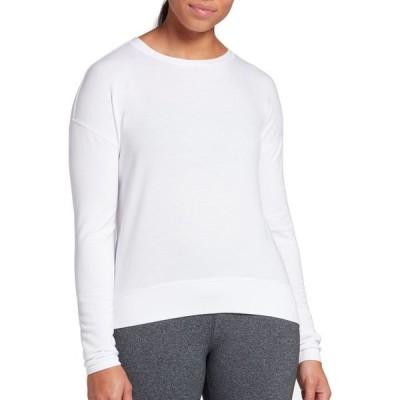 キャリー アンダーウッド CALIA by Carrie Underwood レディース トップス Lightweight French Terry Long Sleeve Shirt Pure White