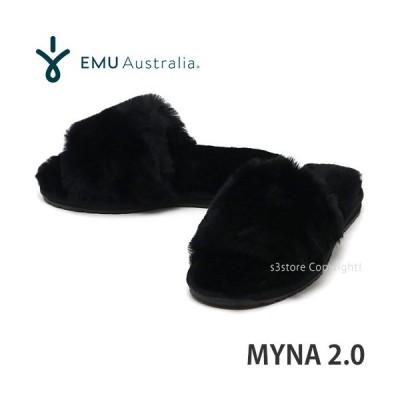 エミュー ミーナ emu Myna 2.0 国内正規品 スリッパ サンダル スライド 靴 シューズ レディース ウィメンズ シープスキン カラー:BLACK