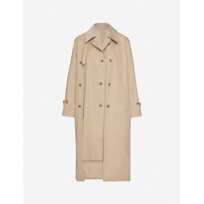 ロック ROKH レディース トレンチコート アウター asymmetric cotton trench coat Burlywood