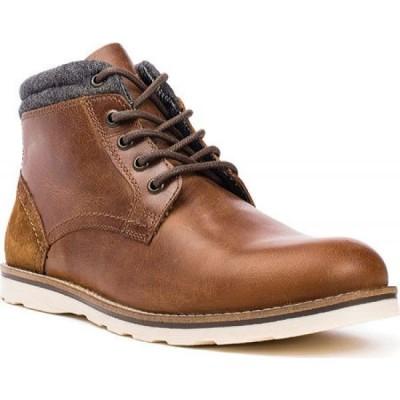 クレボ Crevo メンズ ブーツ ショートブーツ シューズ・靴 Geoff Ankle Boot Chestnut Leather