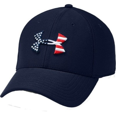 アンダーアーマー 帽子 アクセサリー メンズ Under Armour Men's Freedom Flag Blitzing Hat Navy