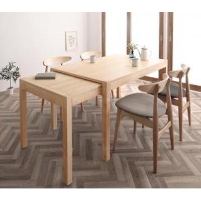 北欧デザイン スライド伸縮テーブル ダイニングセット SORA ソラ 5点セット(テーブル+チェア4脚) W135-235