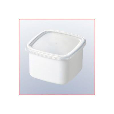 ホーロー容器 ホワイトシリーズ スクウェアM シール蓋付 WS-M 金属製キャニスター 食品の保存、保管容器