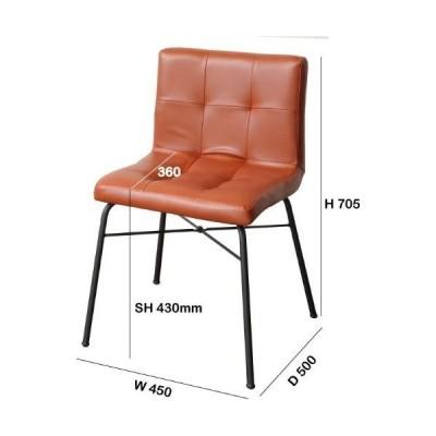市場 アンセム チェア 合成皮革 ブラウン ANC-2552BR