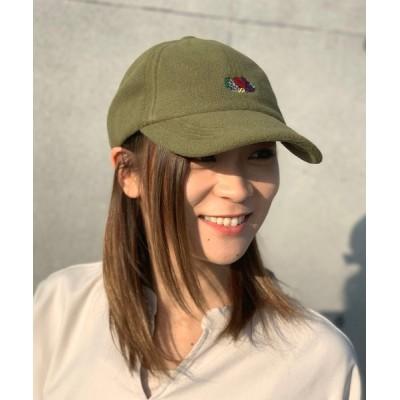 JUGLANS / FRUIT OF THE LOOM FLEECE LOGO EMB LOW CAP WOMEN 帽子 > キャップ