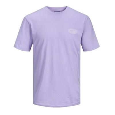 ジャック アンド ジョーンズ Tシャツ トップス メンズ Men's T-Shirt Lavender