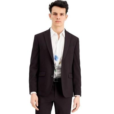 アイエヌシーインターナショナルコンセプト メンズ ジャケット・ブルゾン アウター INC Men's Slim-Fit Burgundy Solid Suit Jacket