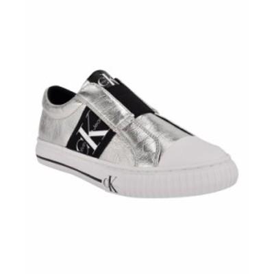 カルバンクライン レディース スニーカー シューズ Women's Camryn Slip-On Sneakers Silver