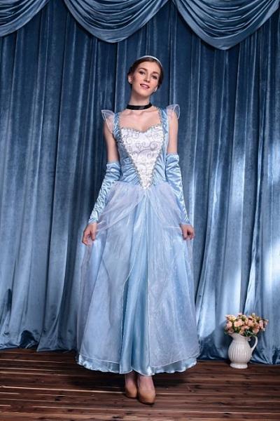 成人服裝迪士尼白雪冰雪公主裙灰姑娘服裝洋裝XL 萬聖誕節表演服舞會衣cosplay大人造型壞皇后服裝