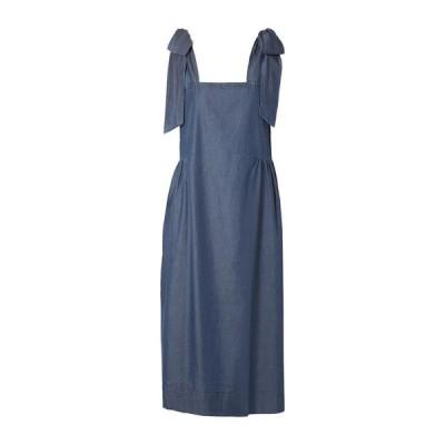 HATCH デニムドレス ファッション  レディースファッション  ドレス、ブライダル  パーティドレス ブルー