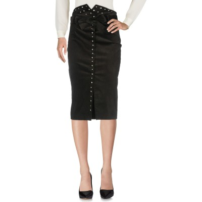 ピンコ PINKO 7分丈スカート ブラック 38 コットン 66% / レーヨン 32% / ポリウレタン 2% 7分丈スカート