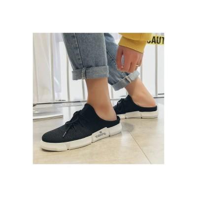 サンダル スリッパ メンズ 靴 スニーカー スリッポン 軽量 トレンド オシャレ カジュアル ブラック ホワイト 履きやすい ぺったんこ フラット