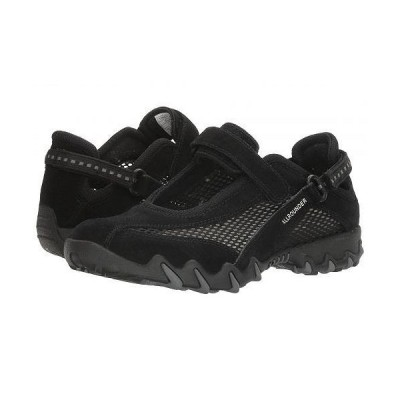 Mephisto メフィスト レディース 女性用 シューズ 靴 スニーカー 運動靴 Niro - Black Suede N/Open Mesh