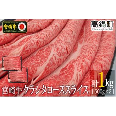 <宮崎牛クラシタローススライス1kg(500g×2)>3か月以内に順次出荷【c707_tf】