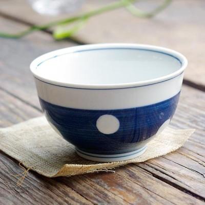波佐見焼 みずたま-すたんだーど 煎茶碗(瑠璃色 藍色 紺 青ブルールリ色)和食器 和風 ドット