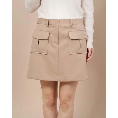リネーム Rename ポケット付き台形スカート (ベージュ)