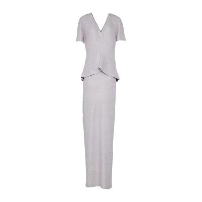 ST. JOHN ロングワンピース&ドレス ライラック 8 レーヨン 45% / ポリエステル 44% / ウール 11% ロングワンピース&ドレス